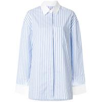 Alexandre Vauthier Camisa Listrada - Azul