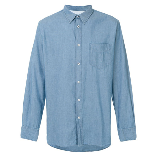 Universal Works Camisa jeans - Azul