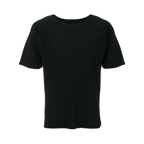 Homme Plissé Issey Miyake Camiseta mangas curtas - Preto