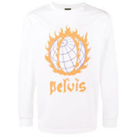 Pelvis Camiseta 'global Meltdown' - Branco