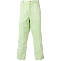 Comme Des Garçons Shirt Calça Chino Cropped - Green