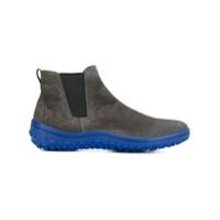Car Shoe Ankle Boot De Camurça - Cinza