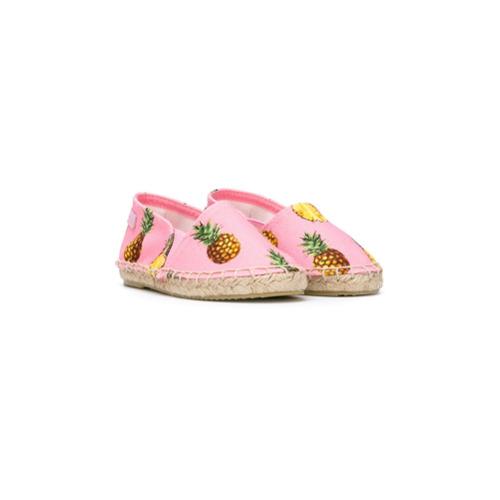 Imagem de Dolce & Gabbana Kids Alpargata com estampa de abacaxi - Pink & Purple