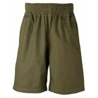 Comme Des Garçons Shirt Bermuda Com Cós Elástico - Green