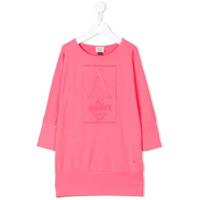 Armani Junior Vestido Com Logo - Pink & Purple