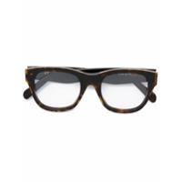 Céline Eyewear Armação De Óculos Quadrada Em Acetato - Brown