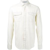 Cerruti 1881 Camisa Mangas Longas - Nude & Neutrals
