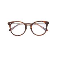 Bottega Veneta Eyewear Armação De Óculos Redonda - Brown