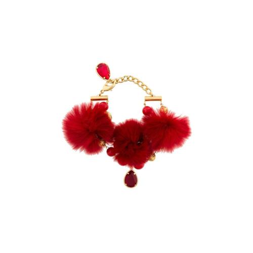 Imagem de Dolce & Gabbana Pulseira com pingentes e pompons - Metallic
