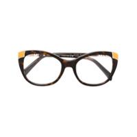 Emilio Pucci Armação De Óculos Gatinho - Brown