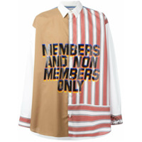 Stella Mccartney Camisa ''member And Non Members Only' - Branco