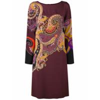 Etro Vestido Com Estampa Paisley - Pink & Purple