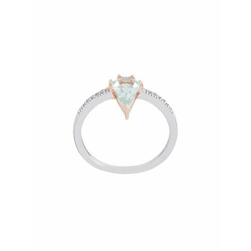Imagem de V Jewellery Anel 'Kit' com quartzo - Metallic