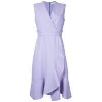 Carven Vestido Com Babados - Pink & Purple