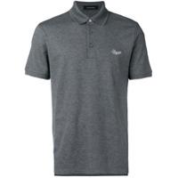 Ermenegildo Zegna Camisa Polo Com Logo - Cinza