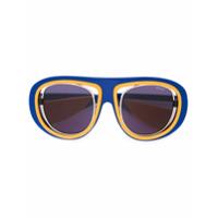 Emilio Pucci Óculos De Sol Aviador - Azul
