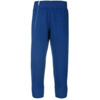 Adidas By Stella Mccartney Calça De Moletom Cropped - Azul
