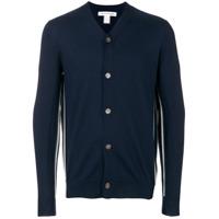Comme Des Garçons Shirt Cardigã Gola V De Lã - Azul