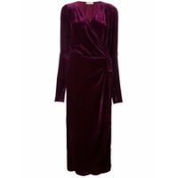 Attico Vestido Envelope Aveludado 'jane' - Pink & Purple