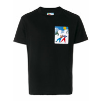 Au Jour Le Jour For Colmar Camiseta Com Patch 'sky Holidays' - Preto