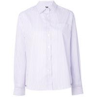 Alexa Chung Camisa Listrada - Branco