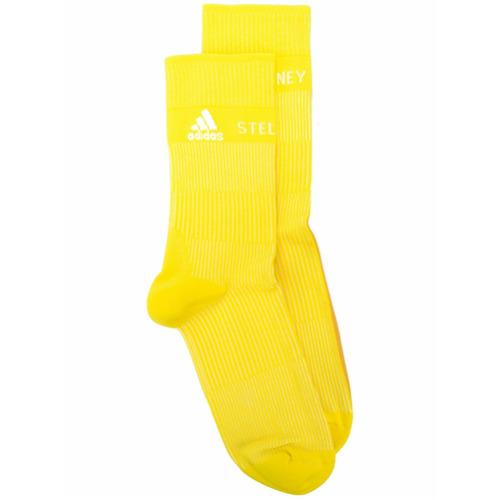 Imagem de Adidas By Stella Mccartney Par de meias caneladas com logo - Amarelo E Laranja