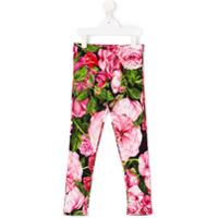 Dolce & Gabbana Kids Legging Com Estampa De Rosa - Estampado