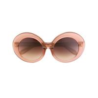Linda Farrow Óculos De Sol Oversize Em Acetato - Pink & Purple