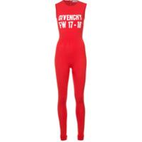 Givenchy Macacão Com Estampa 'fw17-18' - Vermelho