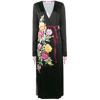 Attico Vestido Midi Floral - Preto