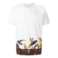 Marni Camiseta Com Estampa - Branco