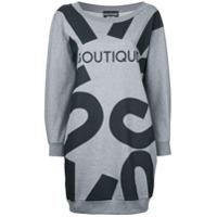 Boutique Moschino Vestido Com Estampa - Grey