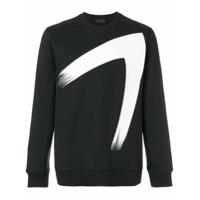 Diesel Black Gold Suéter Com Estampa Decote Careca - Preto