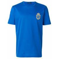 Billionaire Camiseta Com Bordado De Logo - Azul