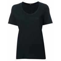 Bassike Camiseta Decote Em U - Preto
