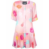 Boutique Moschino Vestido Com Estampa Floral - Pink & Purple