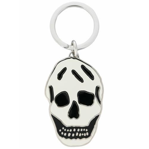 Image of Alexander McQueen Chaveiro 'Skull' - Branco