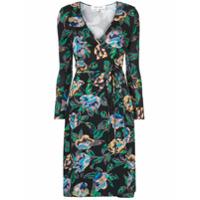 Diane Von Furstenberg Vestido Floral - Preto