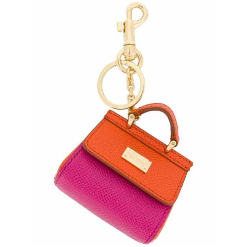Imagem de Dolce & Gabbana Chaveiro 'St Dauphine' de couro - Rosa