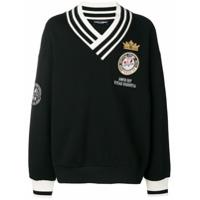 Dolce & Gabbana Suéter Com Patches - Preto