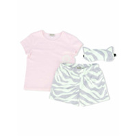 Kenzo Kids Kit Com Bolsa, Camiseta, Short E Máscara - Pink & Purple