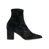 Fabio Rusconi Velvet Ankle Boots - Preto