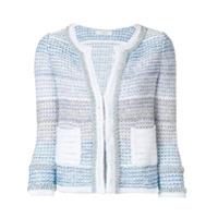 Charlott Jaqueta De Tweed Com Esferas Peroladas - Azul