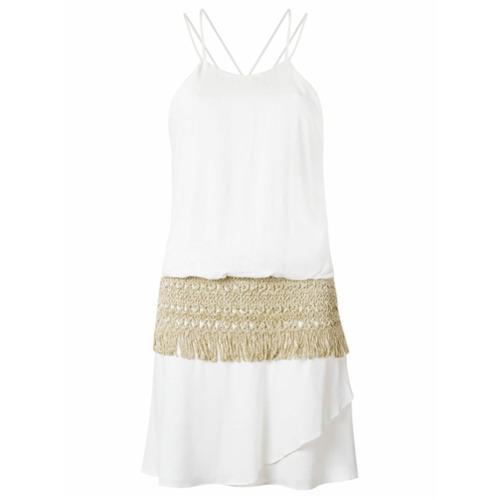 Canal Vestido com crochê - Branco