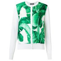 Dolce & Gabbana Cardigã Com Estampa - Branco