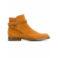 Church's Ankle Boot De Couro Com Fivela - Brown