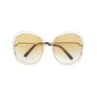 Chloé Eyewear Óculos De Sol 'carlina' - Metallic