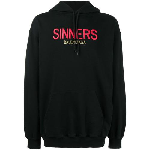 Imagem de Balenciaga Suéter 'Sinners' com capuz - Preto