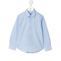 Boss Kids Camisa Clássica - Azul