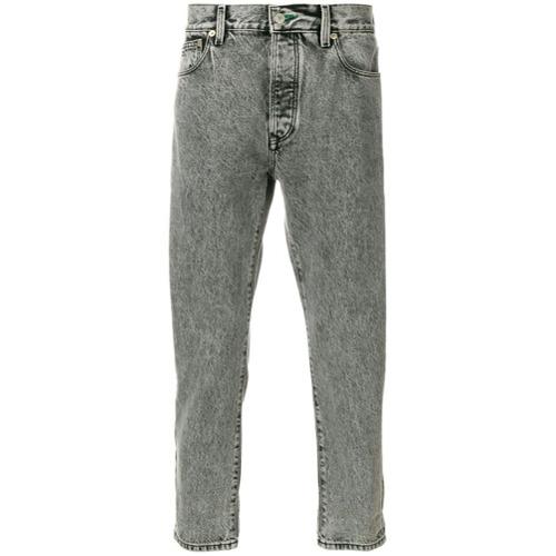 Calça jeans reta cinza em algodão , TOMMY JEANS.